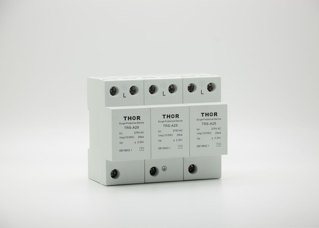 Sensitive Electric Single Phase Surge Arrester , UC 320V 15KA Low Voltage Surge Protector