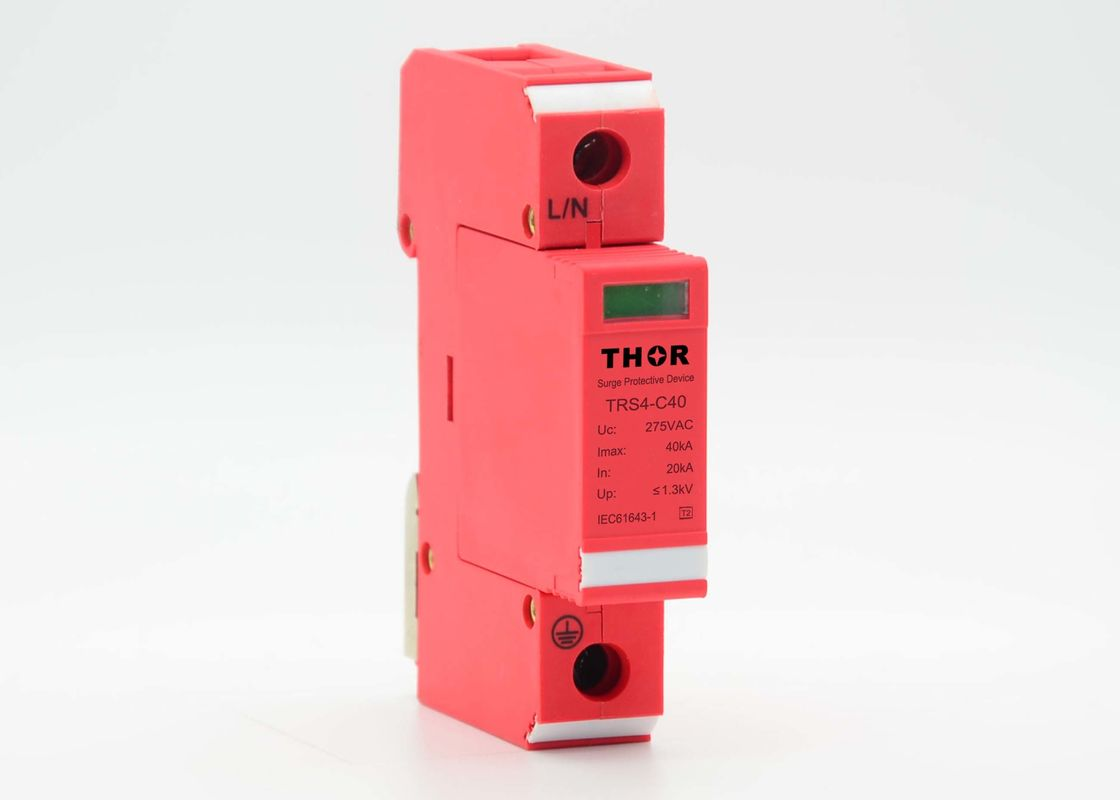 320V 40ka Type 2 Surge Protection Device / Lightning Arrester Fast Response Time