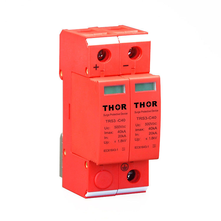 DC lightning surge protection pv surge arrester 500v dc surge protection device